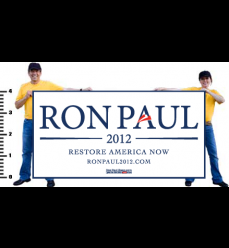 Ron Paul Official Navy on White Vinyl Banner