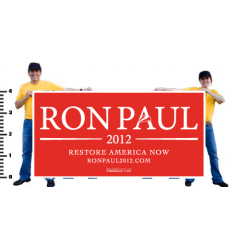 Ron Paul Official White on Red Vinyl Banner