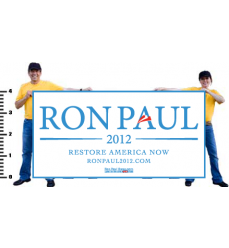 Ron Paul Official Carolina on White Vinyl Banner