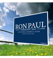 Ron Paul for President 2012 Yard Sign