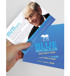 "Large (4""x6"") Blue Series Flyers for Disappointed Democrats"
