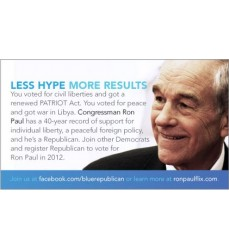 "Small (2""x3.5"") Blue Series Flyers for Disappointed Democrats"