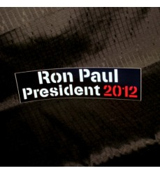 Ron Paul 2012 Black Bumper Sticker