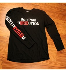 """Revolution"" printed down sleeve"