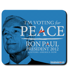 Vote for Peace Mousepad