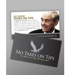 "Small (2""x3.5"") 'Keep your Tips' Black Series Flyers"