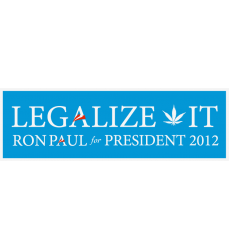 Ron Paul 2012 - Legalize It Bumper Sticker