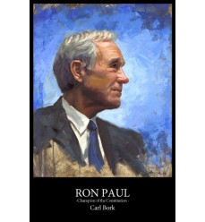 Ron Paul Painting Print  24X36
