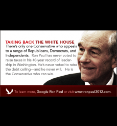 "Small (2""x3.5"") Red Series Flyers for Conservatives"