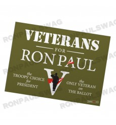 Vets for Ron Paul Yard Sign